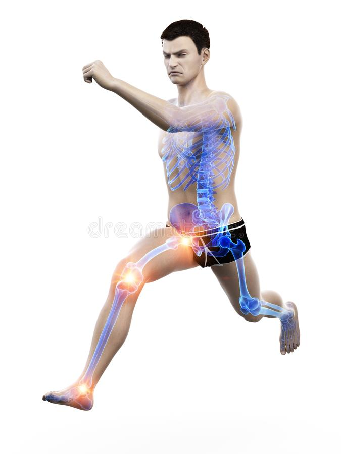 A runners painful joints vector illustration