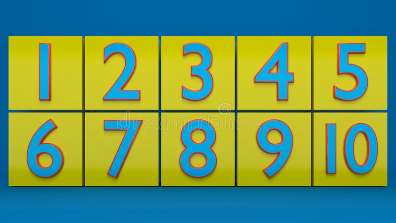 3d rendered numbers vector illustration