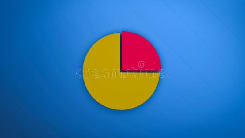3d rendered pie vector illustration