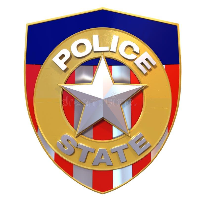 Download 3d Rendered Police State Badge Stock Illustration - Image: 34384110