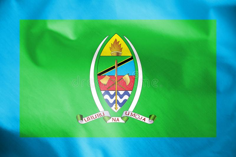 Presidential Standard of Tanzania. 3d Rendered Presidential Standard of Tanzania stock illustration