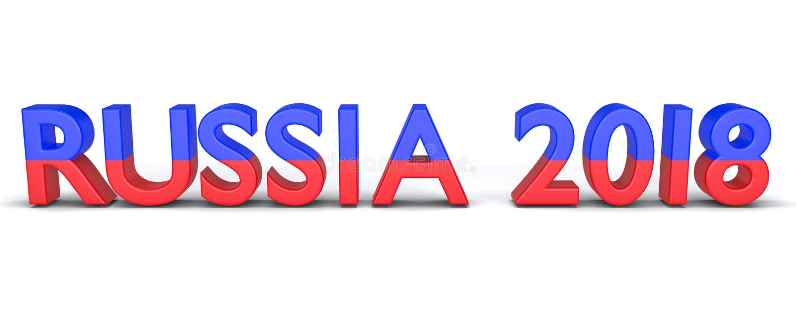3d rendered Russia 2018 royalty free illustration