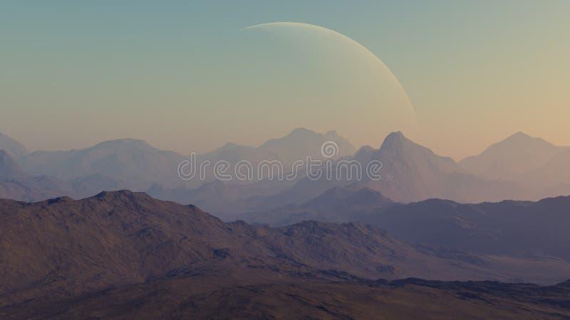 3d rendered Space Art: Alien Planet royalty free illustration