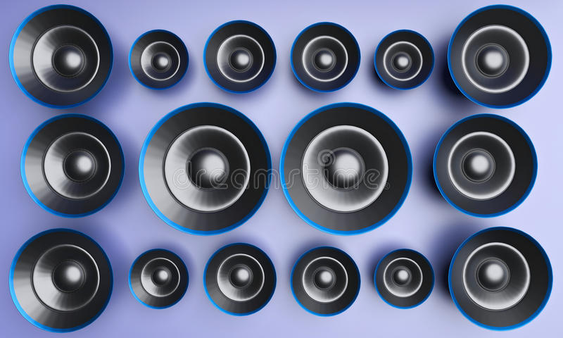 3d rendered speakers stock illustration