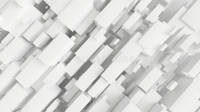 3d rendered white abstract architectural background. royalty free illustration