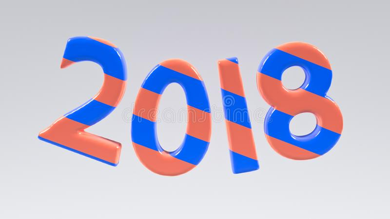 3d rendered 2018 royalty free illustration