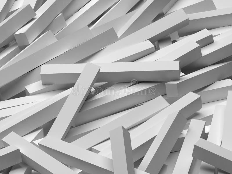 3D abstract background. Illustration of geometric stones stock illustration