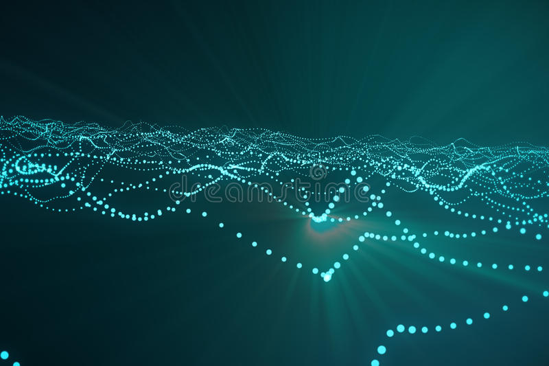 Download 3d Rendering Abstract Polygonal Wave Background With Connecting Dots And Lines. Connection Structure. Computer HUD. Flow Stock Photo - Image: 81994650