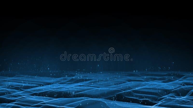 3D rendering Abstrakcjonistyczny terenów dane pojęcie Dla Korporacyjnej Big Data analizy, procesu i unaocznienia, ilustracja wektor