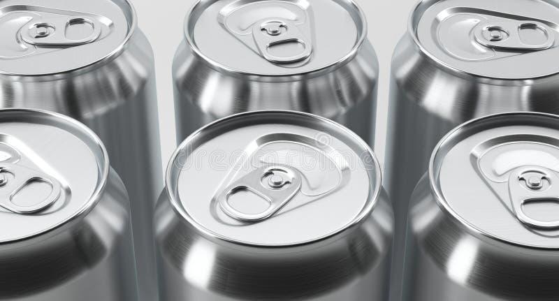 Aluminium Cans On White Background vector illustration