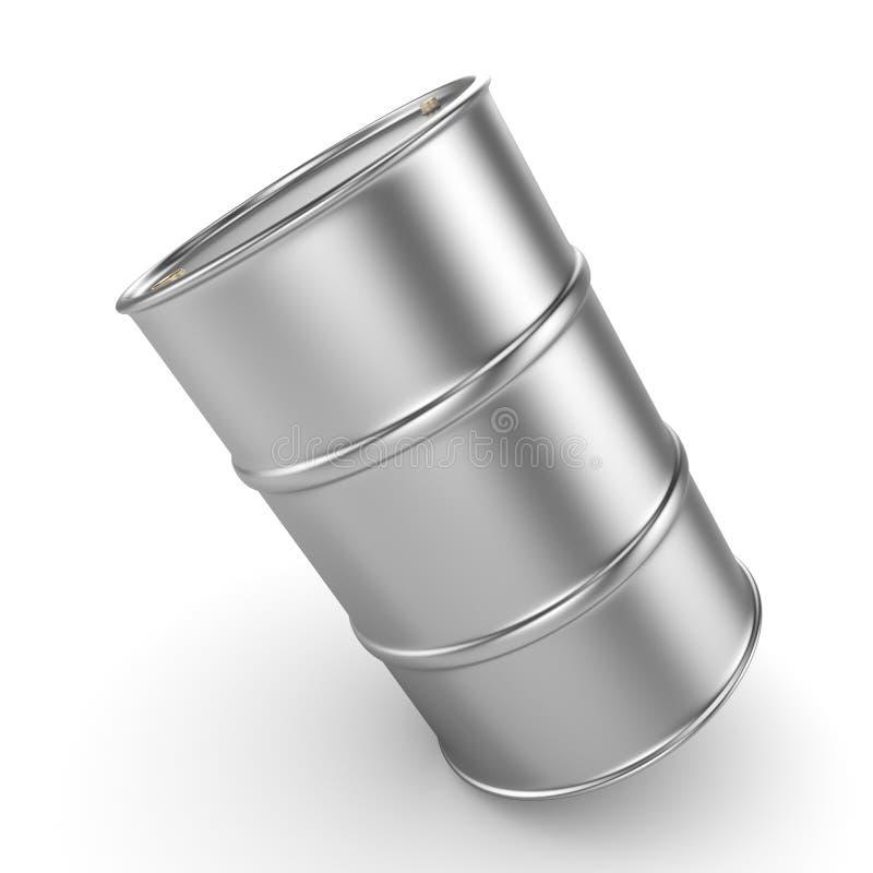 3D rendering aluminum barrel vector illustration