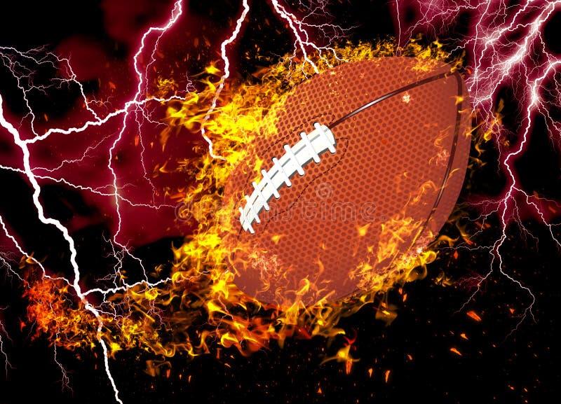 3D rendering, american football, stock image