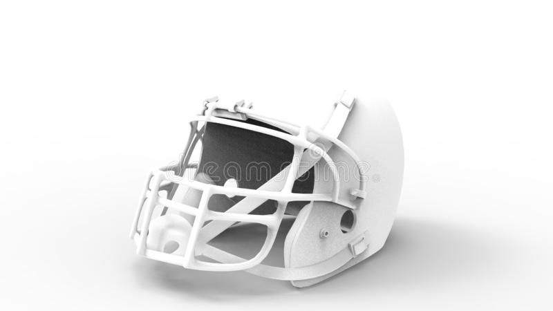 3d rendering of an american football helmet isolated in white studio background. 3d rendering of an american football helmet isolated in a white studio vector illustration