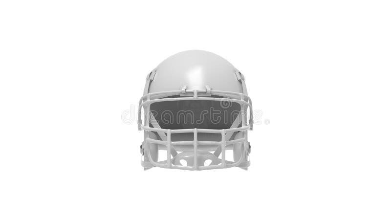 3d rendering of an american football helmet isolated in white studio background. 3d rendering of an american football helmet isolated in a white studio stock illustration