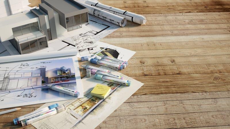 House designing royalty free illustration