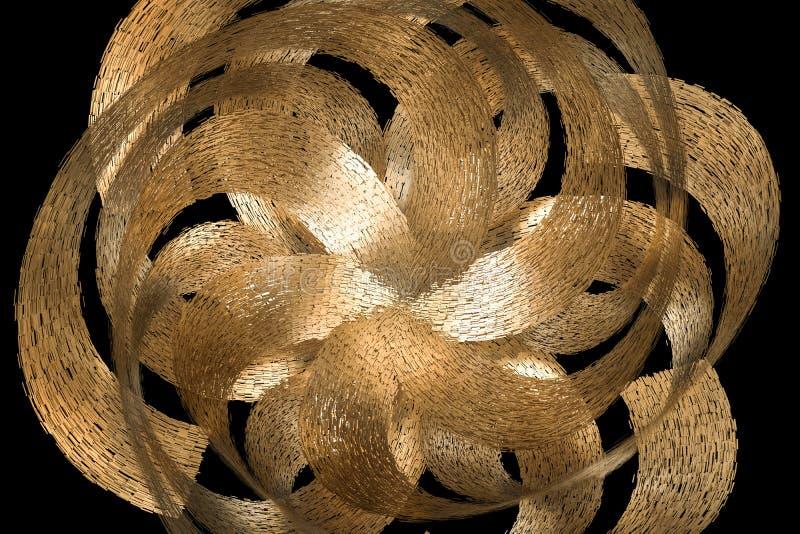 3d rendering, błękitny dekoracyjny kwiat, artystyczny tło ilustracja wektor