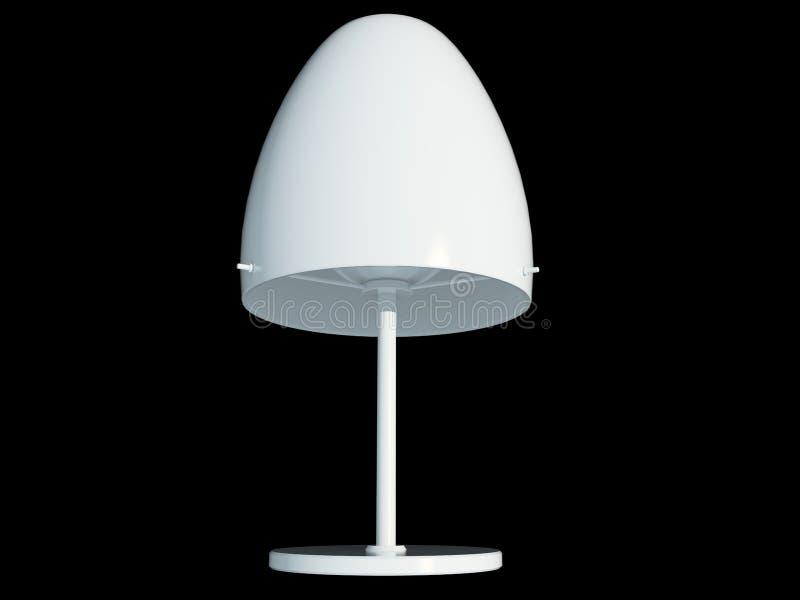 3d rendering białej lampy breloczek odizolowywający na czarnym backgro royalty ilustracja