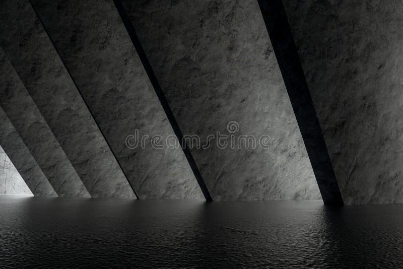 3d rendering, bia?a wewn?trzna budynek struktura royalty ilustracja