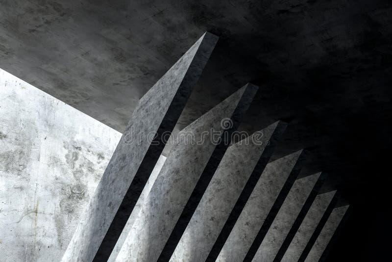 3d rendering, bia?a wewn?trzna budynek struktura ilustracji