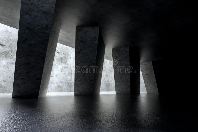 3d rendering, bia?a wewn?trzna budynek struktura ilustracja wektor