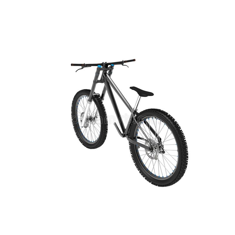 3d rendering of a bicycle on a isolated background vector illustration