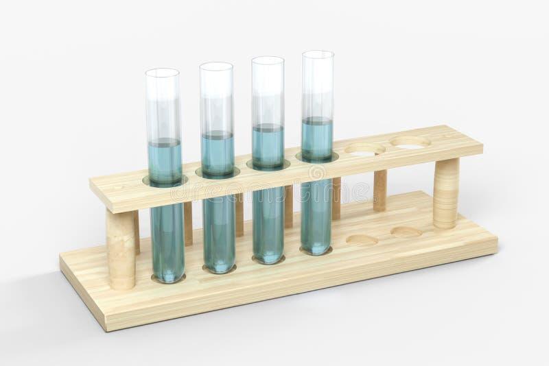 3d rendering, biotechnological laboranckiego wyposażenia tło ilustracja wektor