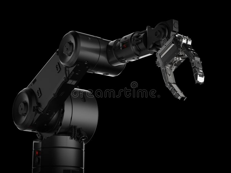 Robotic arm or robot hand stock illustration