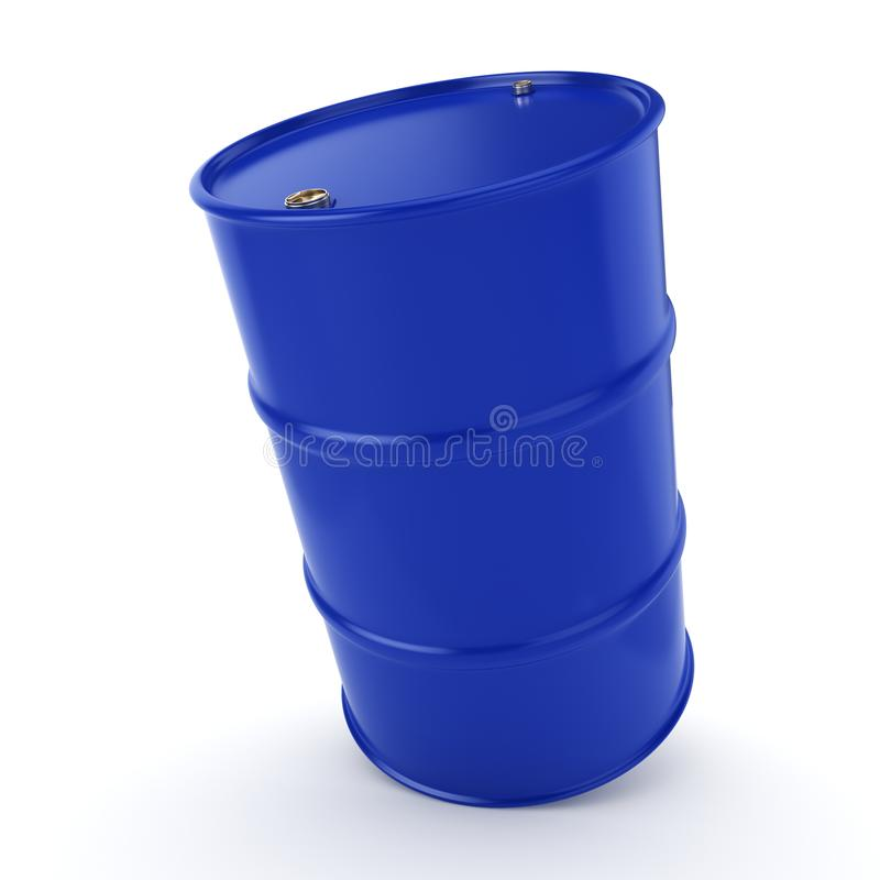 3D rendering blue barrel. Not contain any inscriptions stock illustration