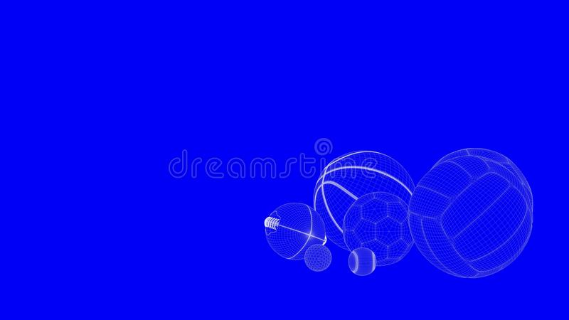 3d rendering of a blueprint balls in white lines on a blue backg download 3d rendering of a blueprint balls in white lines on a blue backg stock illustration malvernweather Choice Image