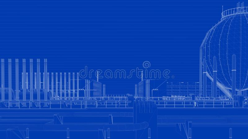 3d rendering of a blueprint industrial city with detailed object download 3d rendering of a blueprint industrial city with detailed object stock illustration illustration of malvernweather Image collections