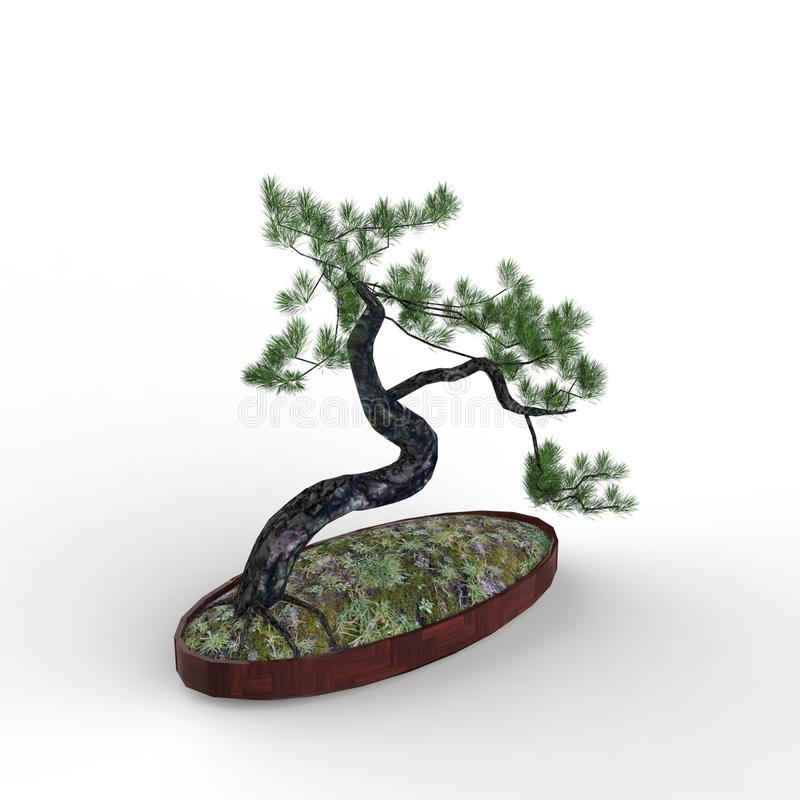 3d rendering a bonsai created by using a blender tool vector illustration