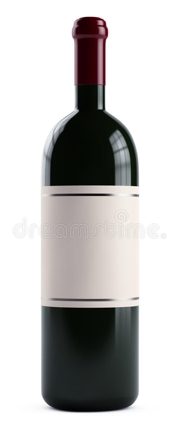 Download 3d Bottle of wine isolated stock illustration. Image of empty - 30226164
