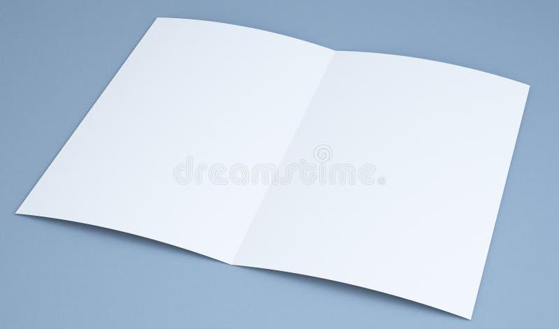 Brochure mock up. 3d rendering of brochure mock up royalty free stock photos