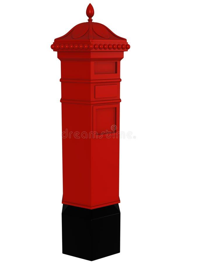 3d rendering Brytyjska skrzynka pocztowa ilustracja wektor