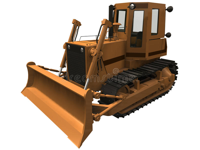Download 3d Rendering Of A Bulldozer Royalty Free Stock Photo - Image: 32083785