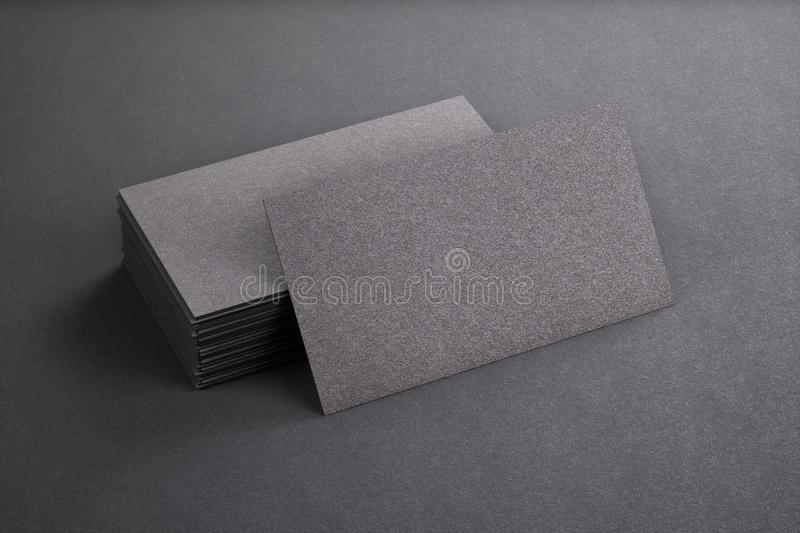 3D Rendering Of Business Card Blank Template Black Cards On Background