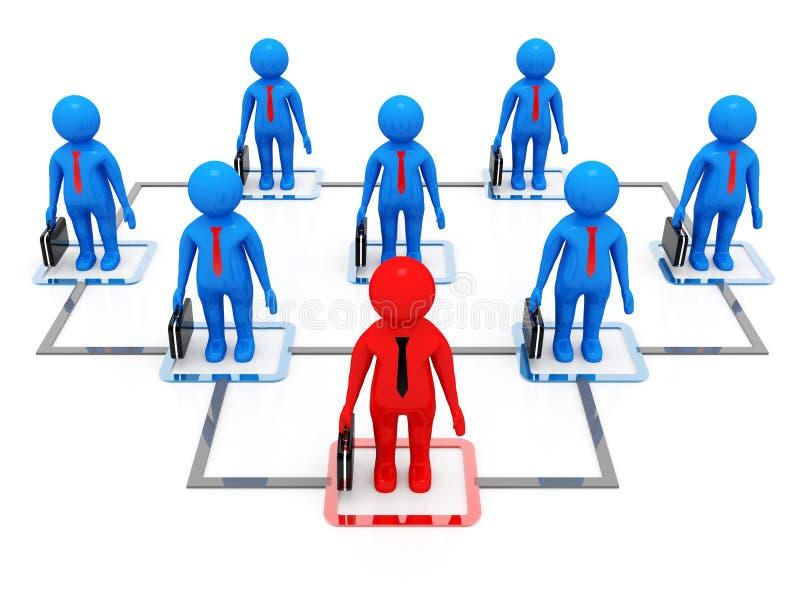 3d rendering business network concept in digital background royalty free illustration