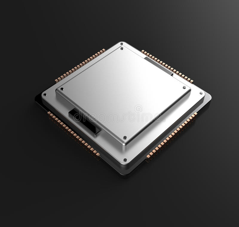 3d rendering of Central Computer Processors CPU royalty free illustration