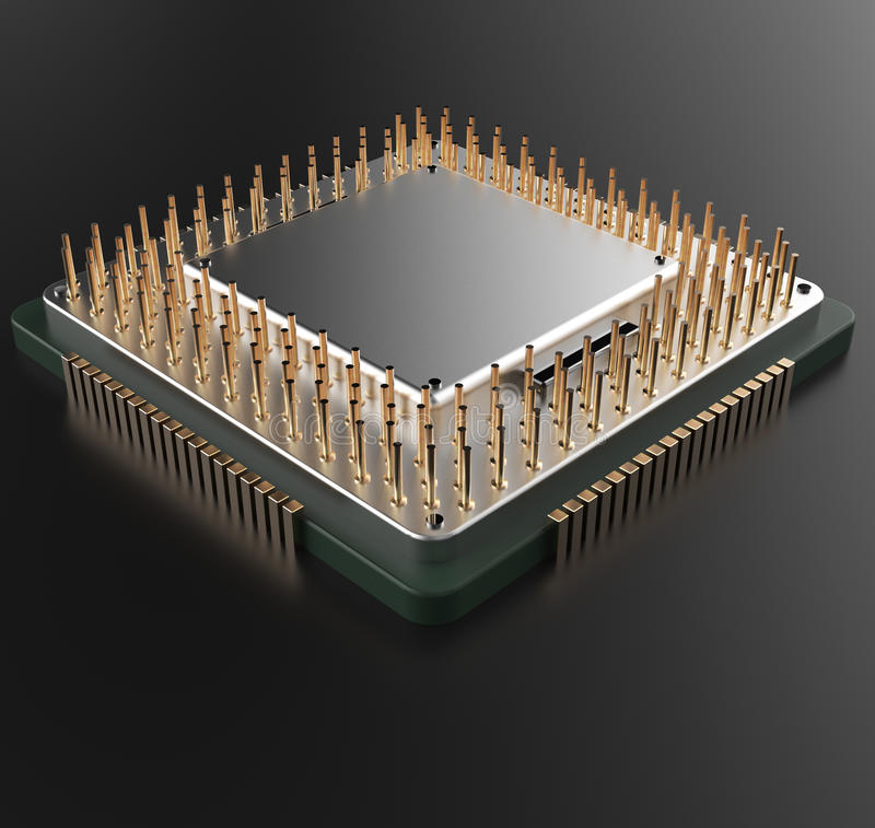 3d rendering of Central Computer Processors CPU vector illustration