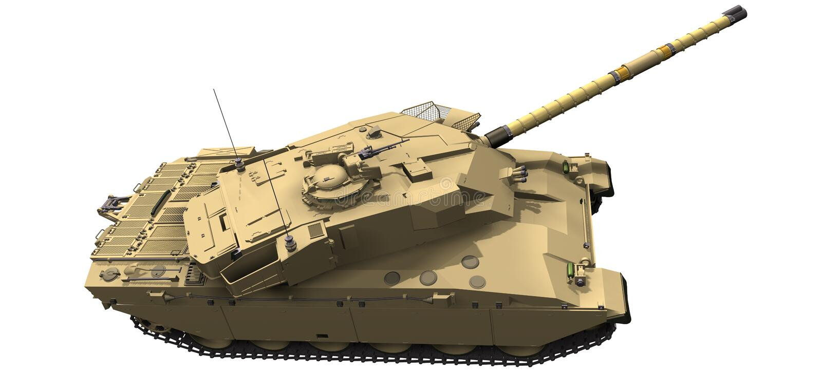 3d Rendering of a Challenger Tank royalty free illustration