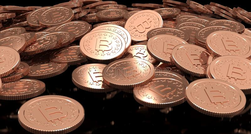 3D Rendering of coin Bitcoin vector illustration