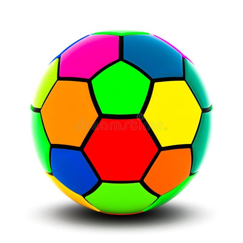 Colorful soccer ball vector illustration