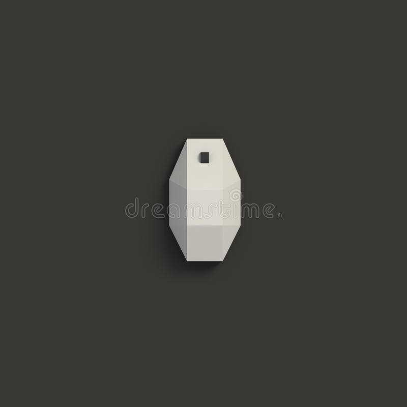 3D RENDERING OF COMPUTER MOUSE FROM TOP VIEW. 3D RENDERING OF WHITE COMPUTER MOUSE FROM TOP VIEW ON BLACK PLAIN BACKGROUND royalty free illustration