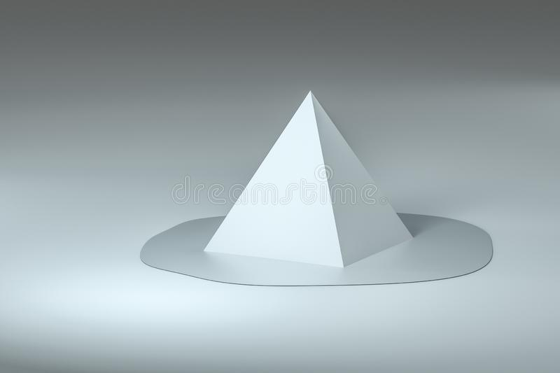 3d rendering, creative melted geometry with white background royalty free stock photography