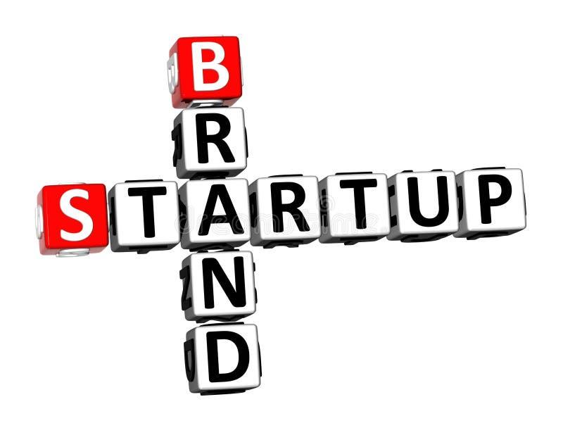 3D Rendering Crossword Startup Brand Over White Background. vector illustration