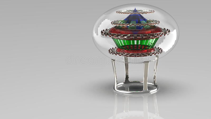 3D rendering. Crystal ball. royalty free stock images
