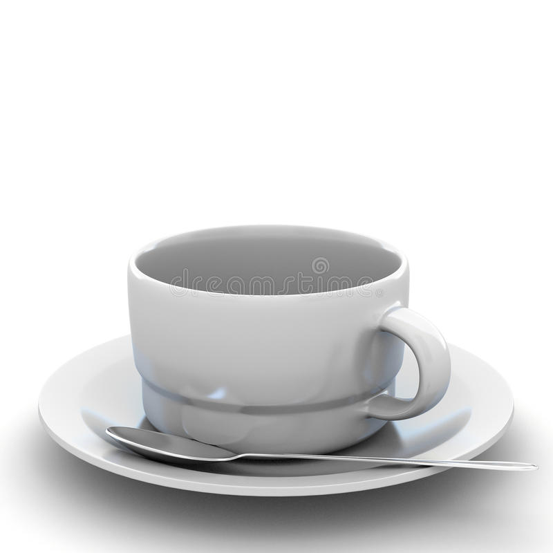 3d rendering Cup of coffee. 3d rendering white Cup of coffee vector illustration