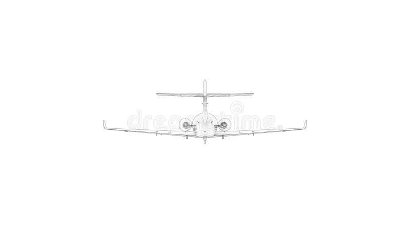 3D rendering dżetowy samolot odizolowywający w białym tle royalty ilustracja