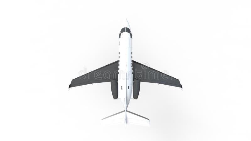 3D rendering dżetowy samolot odizolowywający w białym tle ilustracji