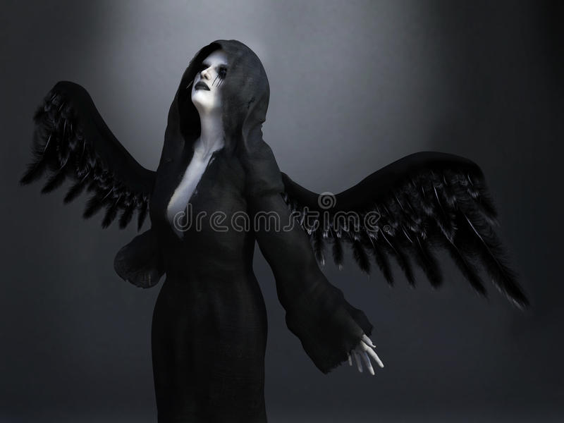 3D rendering of a death angel. vector illustration